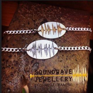 One of a kind soundwave bracelets