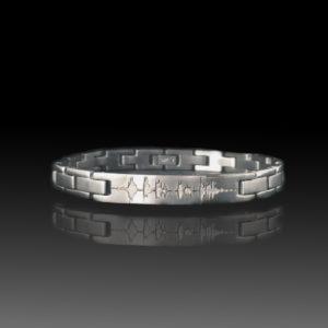 steel soundwave bracelet sound wave jewelry