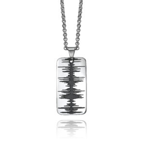 mens soundwave dog tag jewelry steel