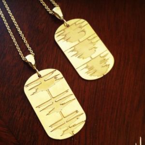 sound wave necklace gold soundwave jewelry voice wave