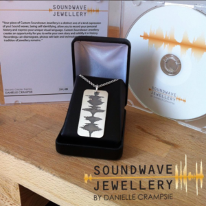 custom sound wave mens jewelry dog tag