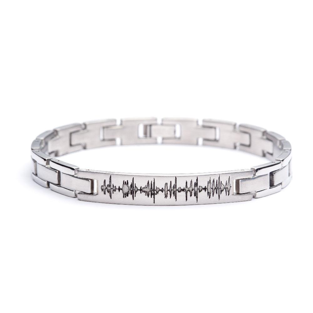 Custom Soundwave Bracelet Stainless Steel