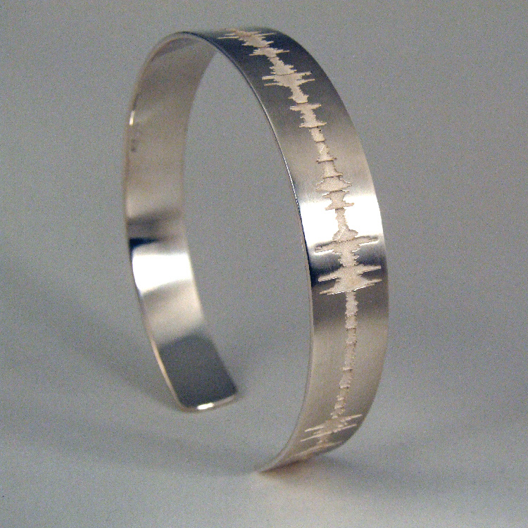 soundwave jewelry custom soundwave bracelet cuff sterling silver 3827