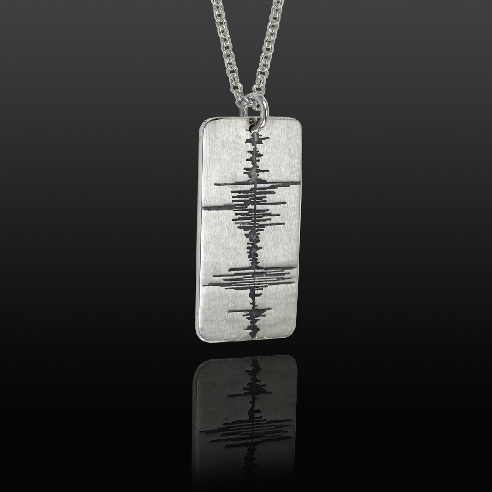 soundwave jewelry custom soundwave tag sterling silver soundwave jewellery 4098