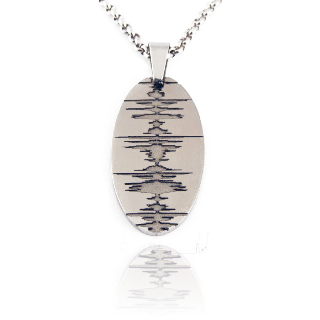 soundwave jewelry custom soundwave necklace stainless steel soundwave 9704