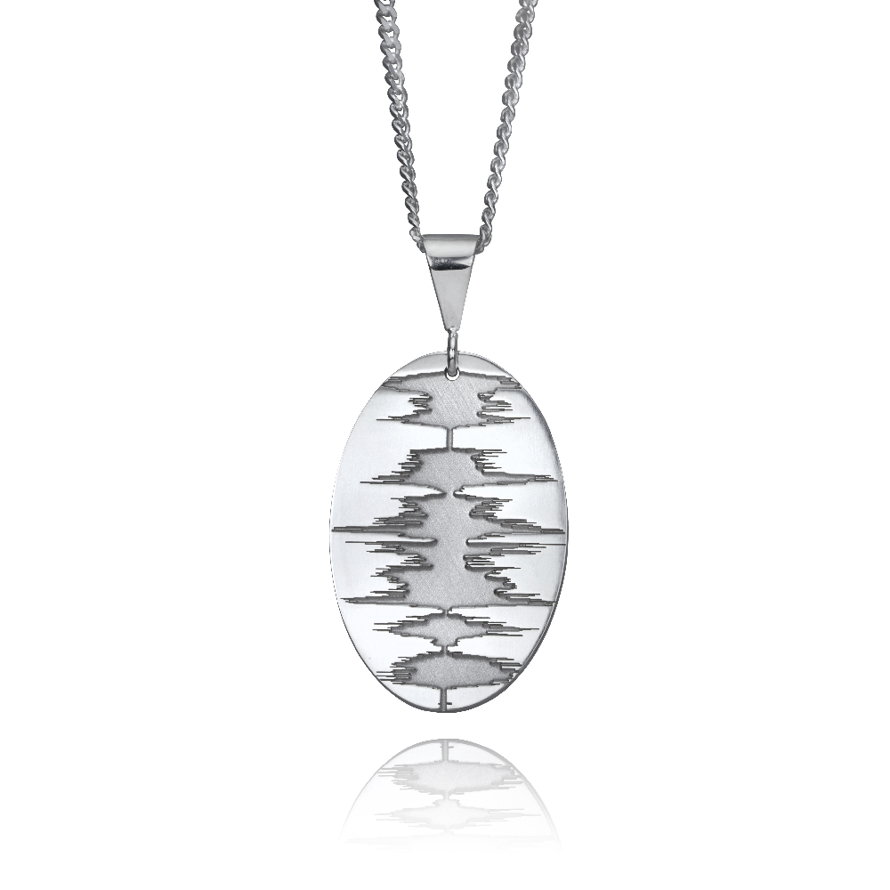 soundwave jewelry custom soundwave necklace sterling silver soundwave 5440