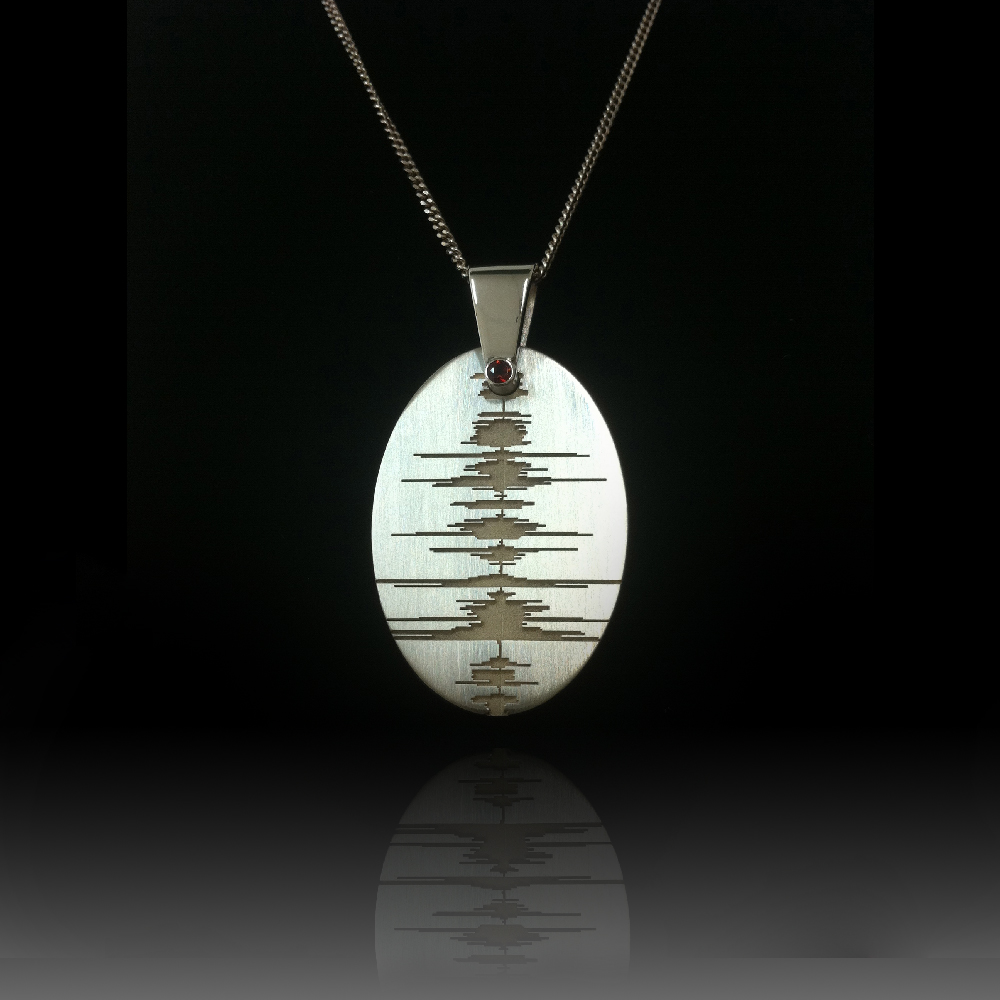 soundwave jewelry custom soundwave necklace sterling silver soundwave 7246