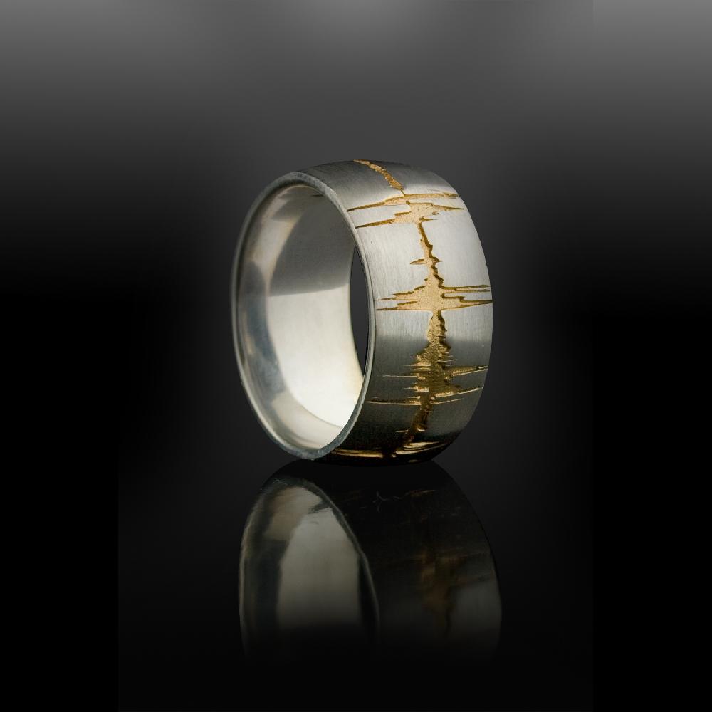 Custom Soundwave Ring Gold Soundwave Jewellery